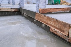Floor wet mixed concrete Royalty Free Stock Photos