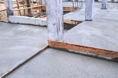 Floor wet mixed concrete Royalty Free Stock Image