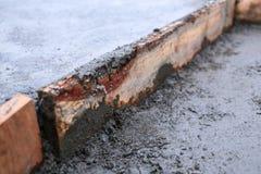 Floor wet mixed concrete Royalty Free Stock Photos