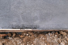 Floor wet mixed concrete Royalty Free Stock Photography