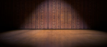Floor and wood door background Royalty Free Stock Photos
