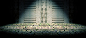 Floor and wood door background Stock Photography