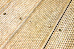 Floor wooden slats for outdoor use Stock Image