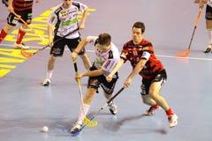 Floorball Abgleichung - Stresovice - Ostrava Stockfotografie