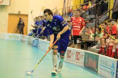Floorball - attacking Zdenek Zak Royalty Free Stock Images