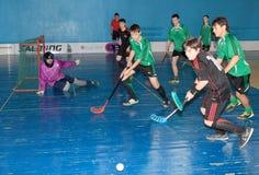 Floorball Championship of Ukraine 2011-2012 Royalty Free Stock Photo