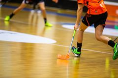 Floorball division 1, IBK Lulea vs Skelleftea IBK - EDITORIAL stock photography