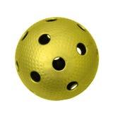 Floorball dorato Fotografie Stock