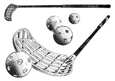 Floorball equipment Royalty Free Stock Photography