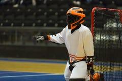 Floorball Goalie royalty free stock photos
