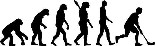 Floorball hokeja ewolucja royalty ilustracja