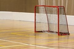 Floorball indoor gate Stock Image