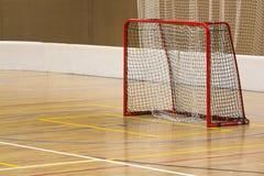 Floorball inomhus port Fotografering för Bildbyråer