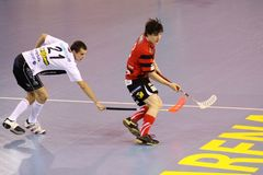 floorball matej gracza smetak Obraz Stock