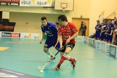 Floorball - Michal Podhrasky Royalty Free Stock Photos