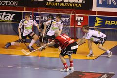 Floorball set-piece Royalty Free Stock Images