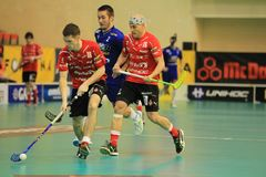 Floorball - Stresovice vs. Vitkovice Stock Photo