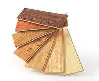 Floorboard with different texture coating. 3d illustration royalty free illustration