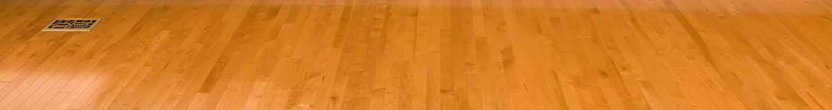 Flooring. Panorama on maple hardwood floor Stock Images