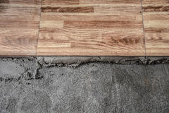 Flooring cement Home renovation, tiles Royalty Free Stock Images