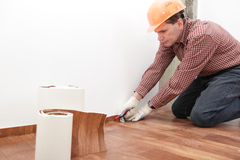 Flooring installation Stock Images