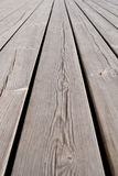 Flooring planks on the pier Stock Image