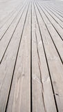 Flooring planks on the pier Stock Photography