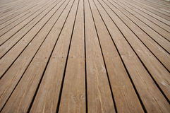 Flooring planks on the pier Stock Images