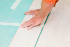 Flooring renovation Royalty Free Stock Images