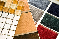 Flooring samples. Flooring solution for every type of floor covering Stock Photography