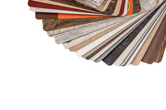 Flooring samples isolated Royalty Free Stock Photo