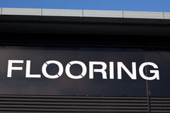Flooring sign Royalty Free Stock Photos