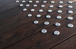 Flooring with steel anti-slip elements Royalty Free Stock Photos