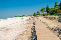 Flooring to the attraction of Pamukkale and the crowd of tou Stock Images