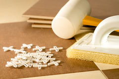 Flooring tools Stock Photo