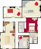 Floorplan Fotografia Stock