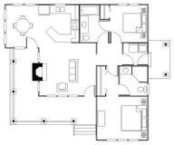 floorplan Arkivbilder