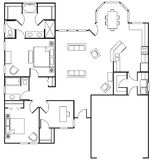 floorplan Royaltyfri Bild