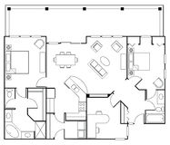 Floorplan Foto de Stock Royalty Free
