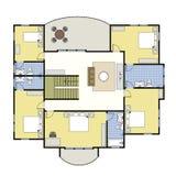 floorplan husplan för arkitektur