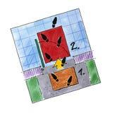 floorplan jordningsplan för golv royaltyfri fotografi