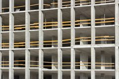 Floors. Fragment of the wall of the unfinished building.  Royalty Free Stock Image