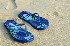 flop flip пляжа Стоковые Фото