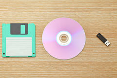 Floppy, CD and USB Royalty Free Stock Images