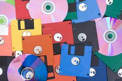 Floppy and compact disk Royalty Free Stock Image