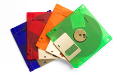 Floppy disc's. Floppy discs on a white background Royalty Free Stock Photo