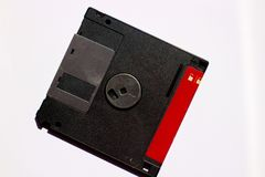 Floppy disc on a white blackground Royalty Free Stock Images