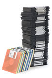 Floppy disc tower Royalty Free Stock Photos