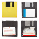 Floppy discs isolated set Royalty Free Stock Image