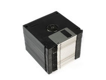 Floppy discs in stack Royalty Free Stock Photography